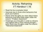 activity reframing i t handout 1 16