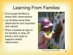 learning from families