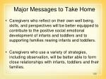 major messages to take home120
