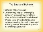the basics of behavior