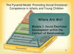 the pyramid model promoting social emotional competence in infants and young children13