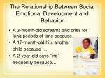the relationship between social emotional development and behavior60
