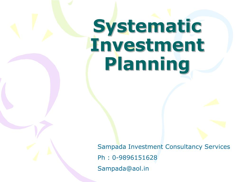 systematic investment planning l.