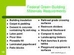federal green building materials requirements