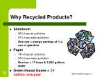 why recycled products