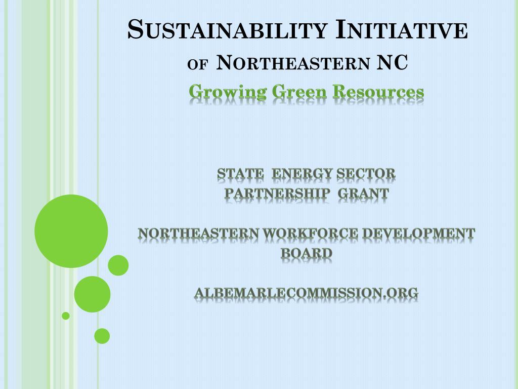 sustainability initiative of northeastern nc l.