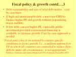 fiscal policy growth contd 3