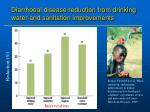 diarrhoeal disease reduction from drinking water and sanitation improvements