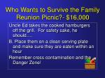 who wants to survive the family reunion picnic 16 00019