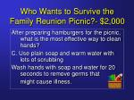 who wants to survive the family reunion picnic 2 00013
