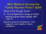 who wants to survive the family reunion picnic 2005