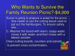 who wants to survive the family reunion picnic 4 00015