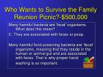 who wants to survive the family reunion picnic 500 00029