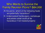 who wants to survive the family reunion picnic 64 00023