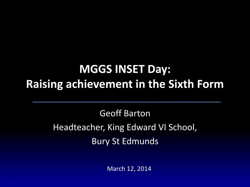 MGGS INSET Day: