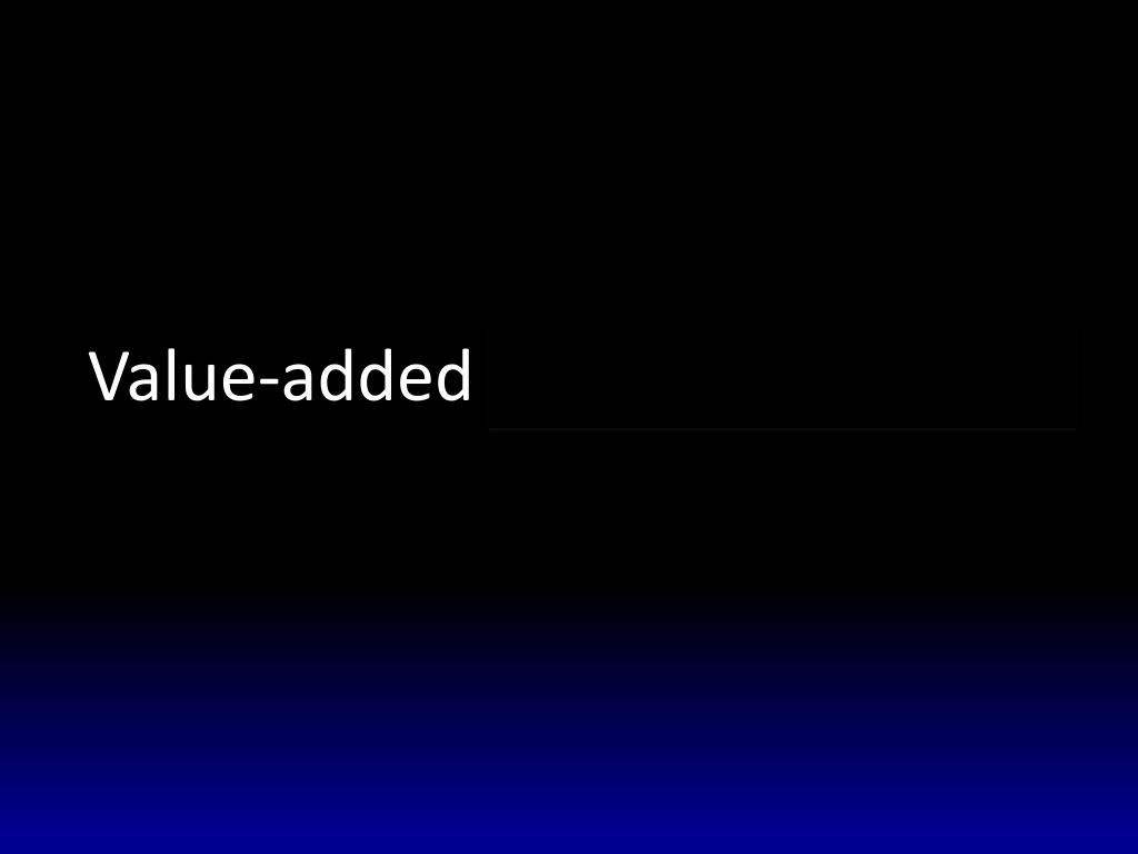 Value-added and value