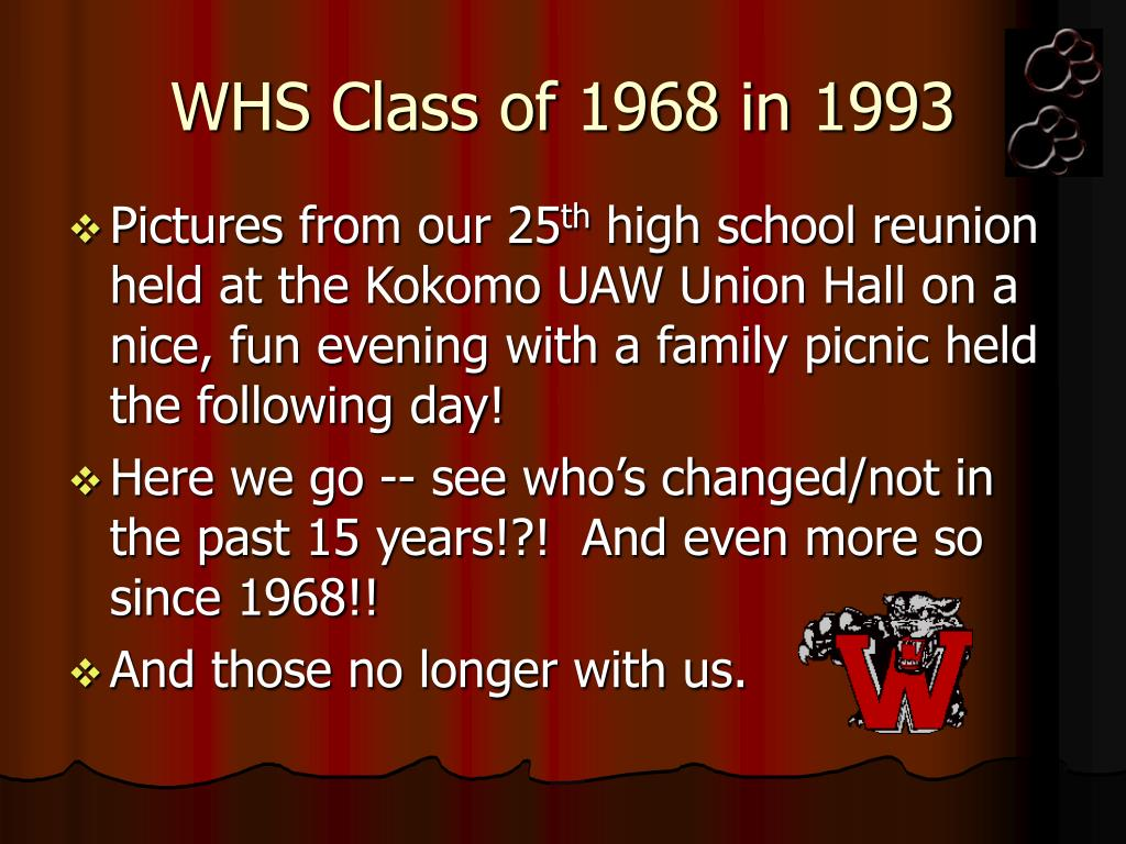whs class of 1968 in 1993 l.