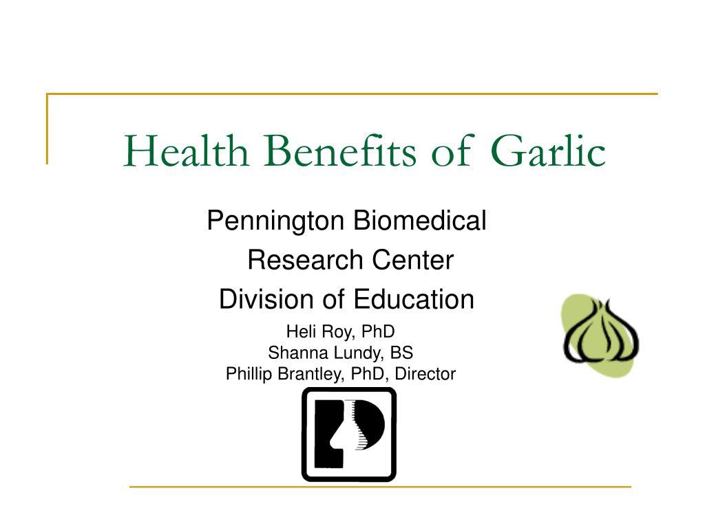 health benefits of garlic l.