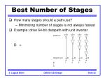best number of stages