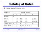 catalog of gates