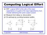 computing logical effort