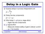 delay in a logic gate8