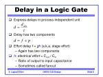 delay in a logic gate9
