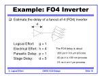 example fo4 inverter19