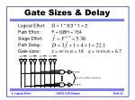gate sizes delay42