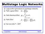 multistage logic networks21
