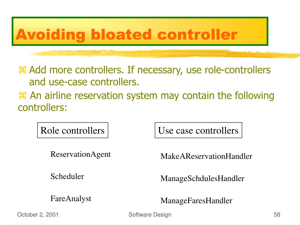 Role controllers