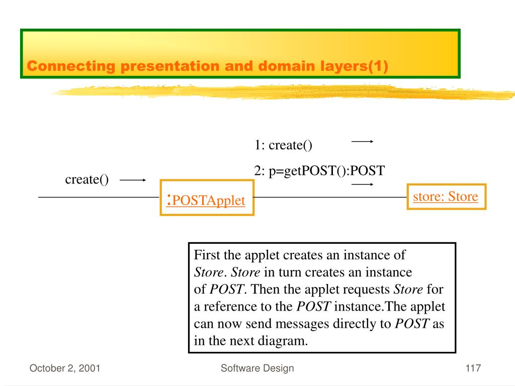 Connecting presentation and domain layers(1)