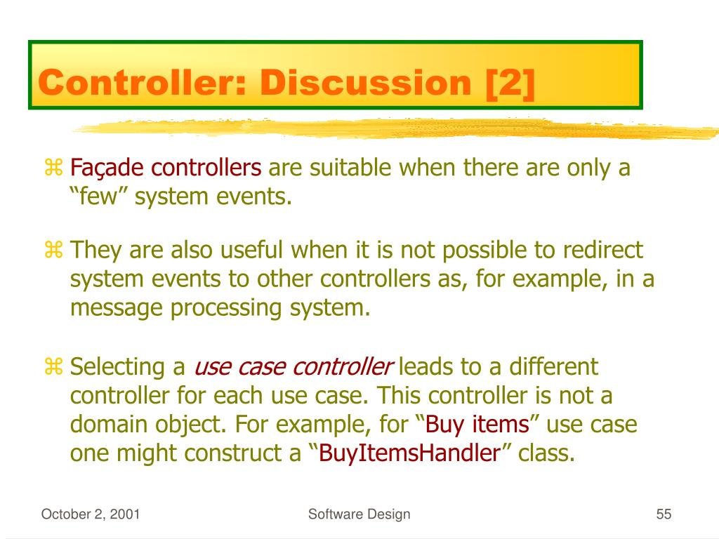 Controller: Discussion [2]