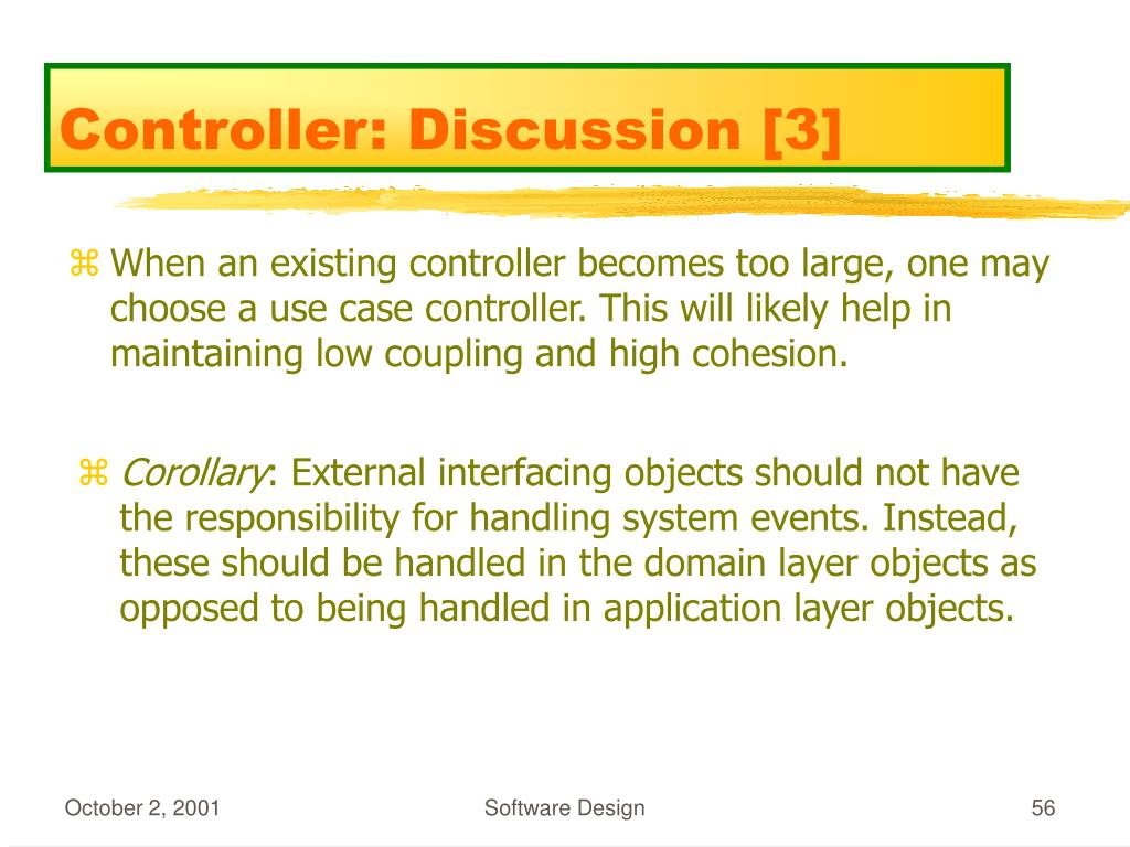 Controller: Discussion [3]