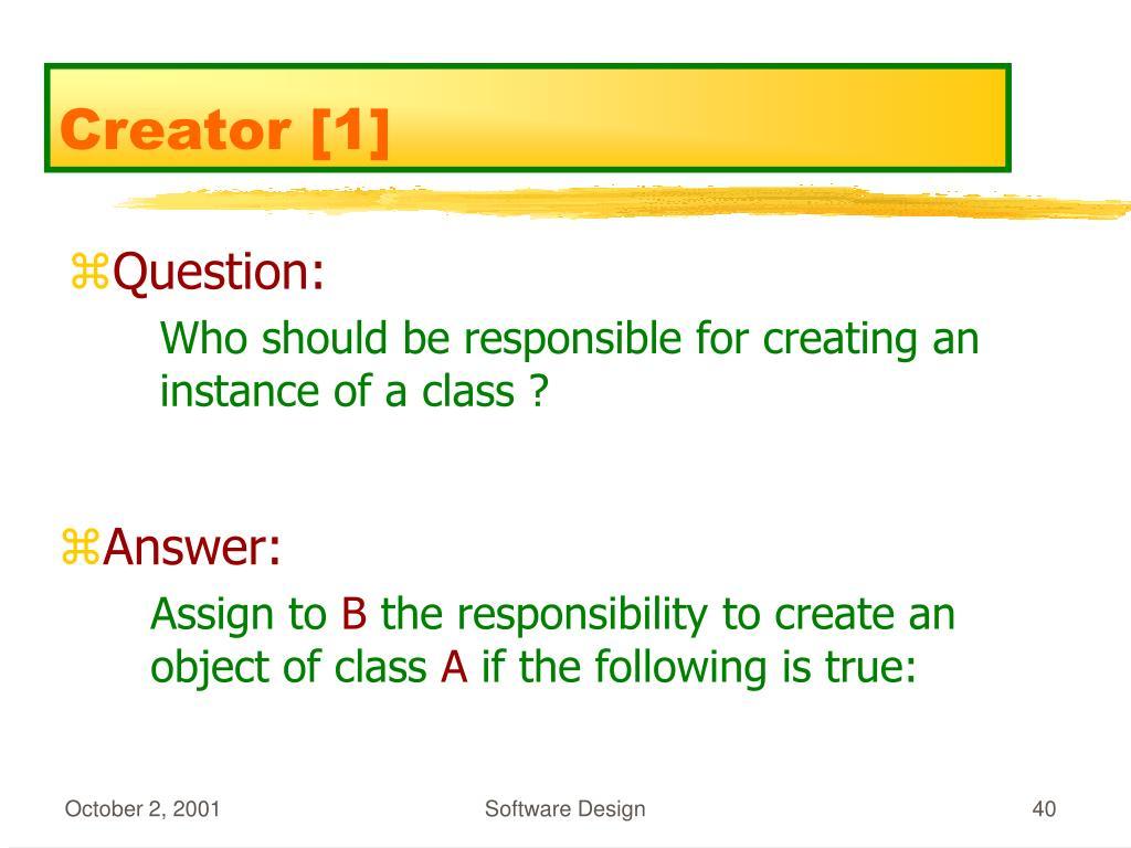 Creator [1]