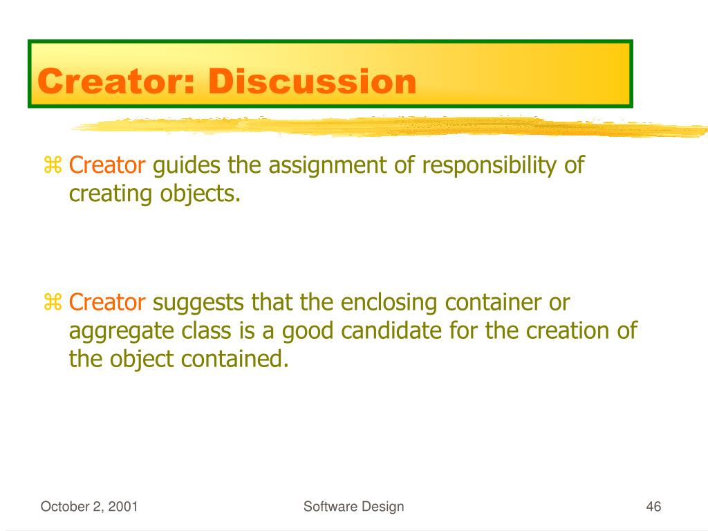Creator: Discussion