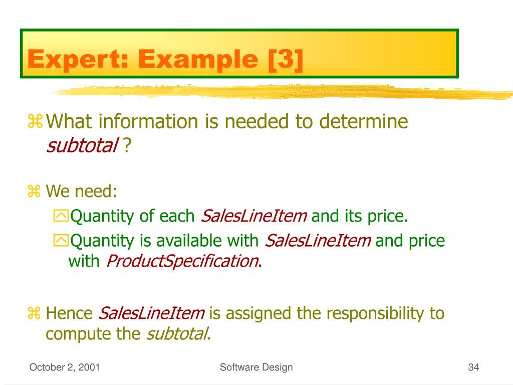 Expert: Example [3]