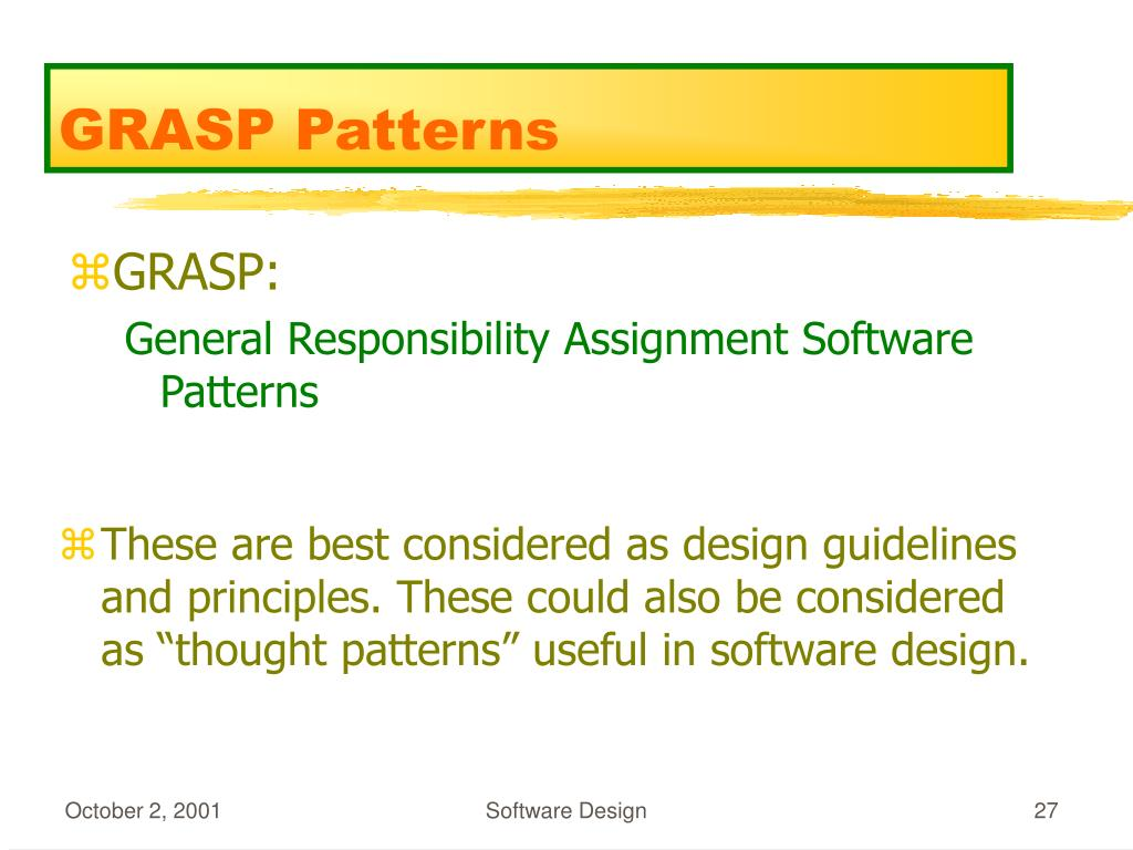 GRASP Patterns