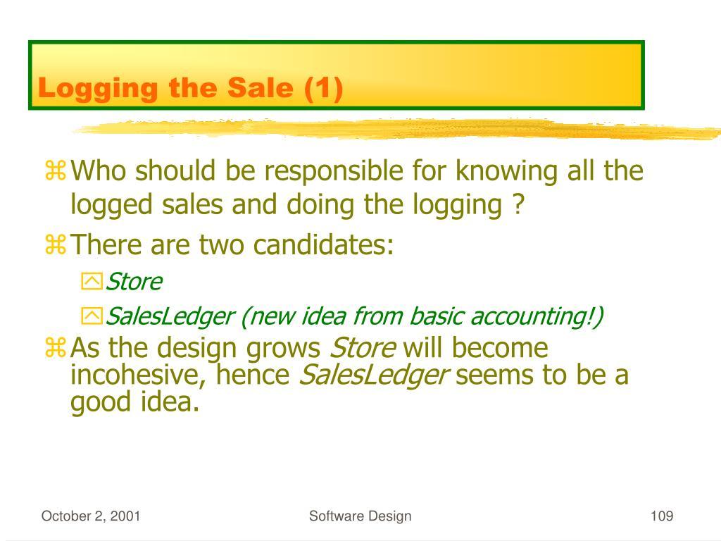 Logging the Sale (1)