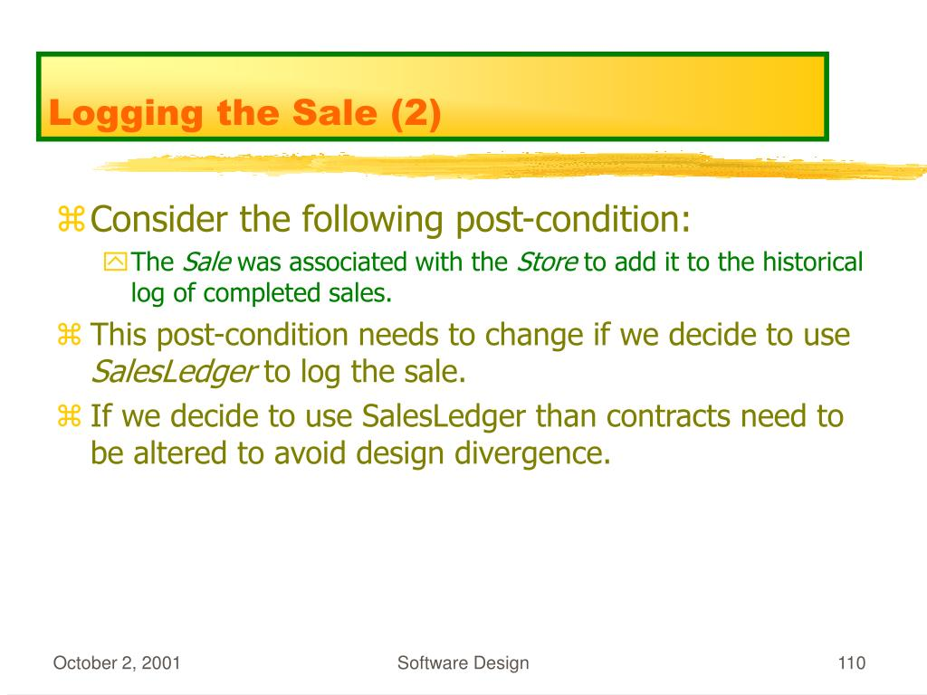 Logging the Sale (2)