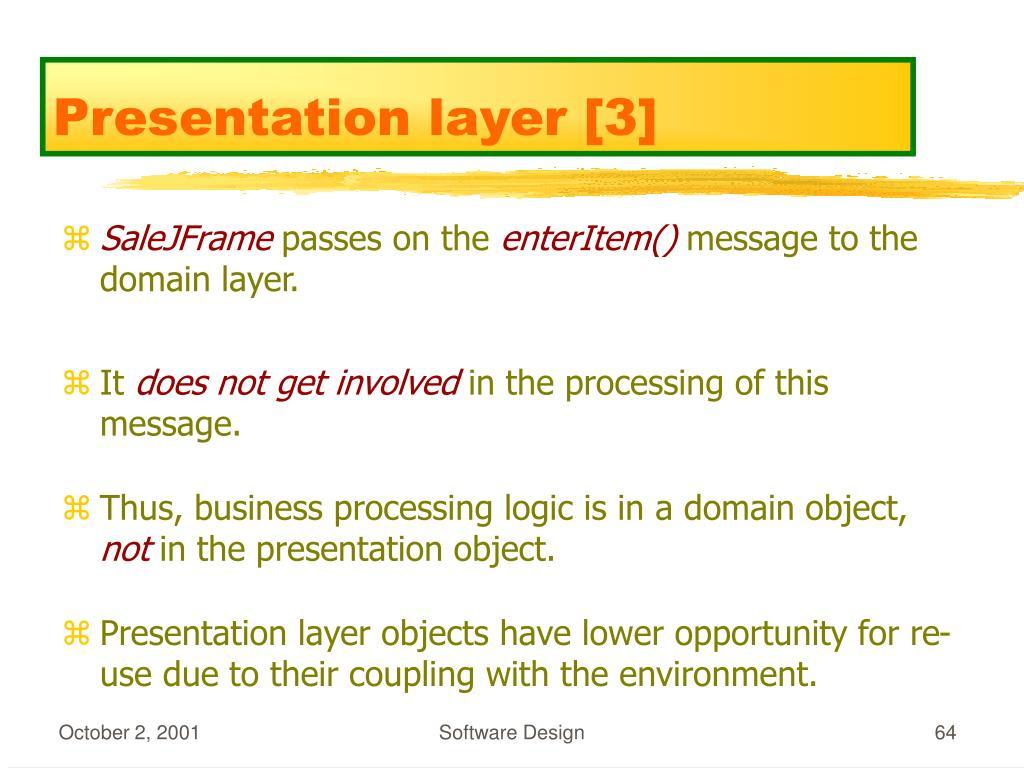 Presentation layer [3]