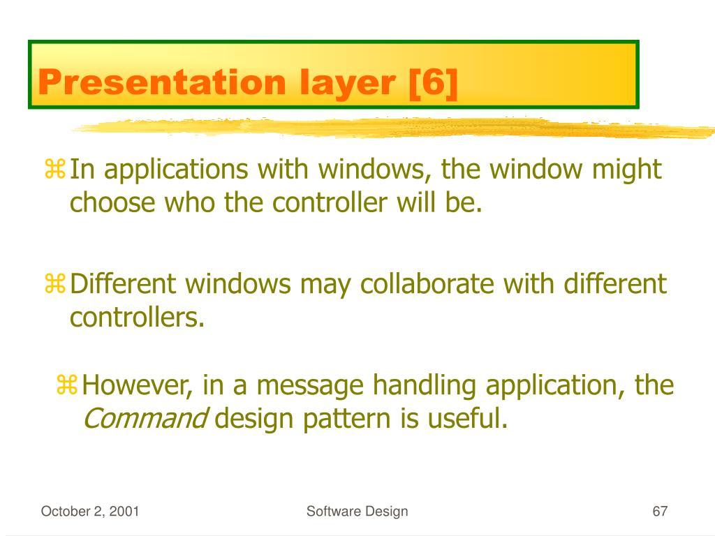 Presentation layer [6]