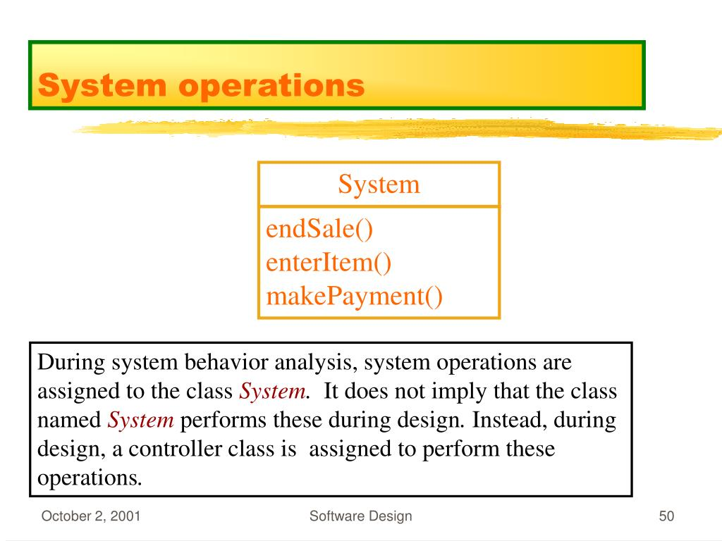 System operations