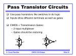 pass transistor circuits