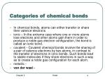 categories of chemical bonds