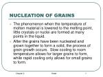 nucleation of grains
