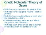 kinetic molecular theory of gases