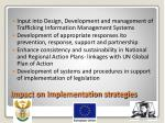 impact on implementation strategies