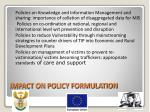 impact on policy formulation