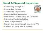 fiscal financial incentives